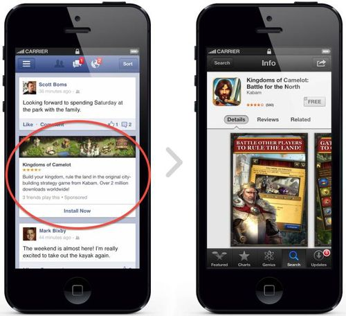 Faceboook-iphone-mobile-app-ads